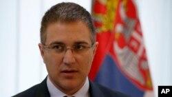 Nebojša Stefanović, ministar policije u Vladi Srbije (AP Photo/Darko Vojinovic)