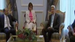 美國務卿在沙特會見敘利亞反對派領導人