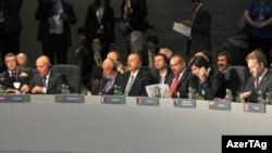 İlham Əliyev NATO-nun Uelsdə keçirilən sammitinin Əfqanıstan üzrə görüşündə çıxış edib