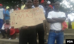 This is how Zimbabwean workers feel about Workers' Day .... (Photo: Mavis Gama)