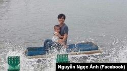 Nông dân nuôi tôm Nguyễn Ngọc Ánh
