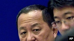 지난해 9월 중국 베이징의 학술회의에 참석한 리용호 북한 외무성 부상.