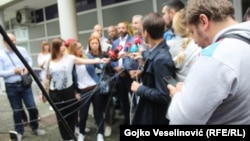 Press conference of the Club of journalists Banja Luka for attacking colleague Vladimir Kovacevic