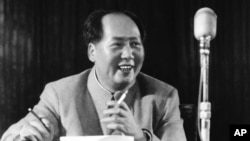 Chairman Mao Zedong at general assembly of the Chinese communist party in March 1955.