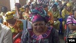 Wanawake wa DRC wakiombea amani mjini Goma.