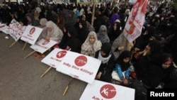 کراچی میں کوئٹہ ہلاکتوں کے خلاف احتجاجی مظاہرہ