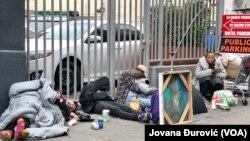 Mnogi beskućnici žive na ulicama u centru San Franciska