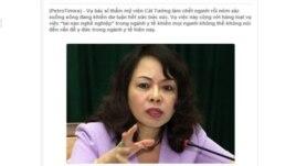 Bài viết kêu gọi Bộ trưởng Y tế Nguyễn thị Kim Tiến từ chức của PeroTimes