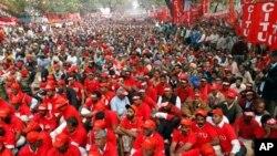 بھارتی دارالحکومت میں احتجاجی مظاہرہ