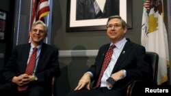 Меррик Гарланд и Марк Керк. Вашингтон. 29 марта 2016 г.