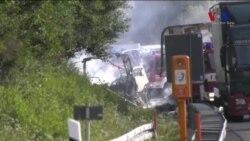 Almanya'da Trafik Kazası: 18 Ölü