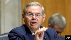 FILE - Senate Foreign Relations Committee Chairman Robert Menendez.