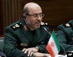FILE - Iranian Defense Minister Hossein Dehghan is pictured during a meeting in Moscow, Russia, Dec. 20, 2016.