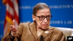 Hakim Mahkamah Agung AS, Ruth Bader Ginsburg meninggal dalam usia 87 tahun hari Jumat (18/9)