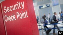 미국 공항의 보안 검색대 (자료사진)