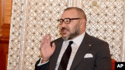 Le roi du Maroc Mohamed VI à Casablanca, Maroc, le 10 octobre 2016