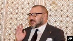 Le roi du Maroc Mohammed VI à droite, Casablanca, Maroc, 10 octobre 2016