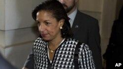La embajadora Susan Rice se reunió otra vez este miércoles con senadores en Washington.