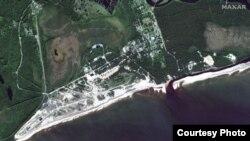 Спутниковый снимок полигона в Нёноксе