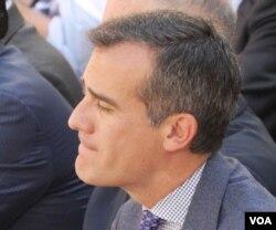 洛杉矶市长贾西提(美国之音国符拍摄)