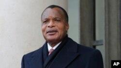 Le président Denis Sassou Nguesso (AP Photo/Christophe Ena)