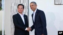 Tổng thống Obama đã nhận lời mời thăm Việt Nam của Thủ tướng Nguyễn Tấn Dũng bên lề hội nghị thượng đỉnh ASEAN - Mỹ tại Sunnylands, bang California, Hoa Kỳ, hồi trung tuần tháng 2.