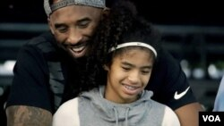 Kobe Bryant with his daughter Gianna