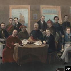 中英签署南京条约