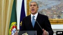 Portugalski premijer Žoze Sokrates govori u Lisabonu, 6. april 2011
