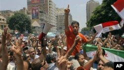 Демонстрации в поддержку Мохамеда Мурси. Каир, Египет