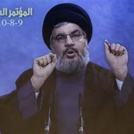 Hezbollah leader Sheik Hassan Nasrallah (file photo)