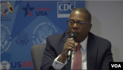 Brian Nichols, U.S. ambassador to Zimbabwe, speaks about Zimbabwe's agricultural sector, as well as past mismanagement of resources, in Harare, Sept. 24, 2019. (C. Mavhunga/VOA)
