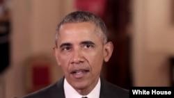 Rais Barack Obama, wa Marekani.