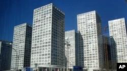 北京近年来新建的大楼鳞次栉比。