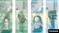 El nuevo billete de 10.000 bolívares, equivale a unos 15 dólares a la tasa de cambio destinada a gastos secundarios.