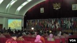 Peringatan Konferensi Asia Afrika ke-58 di Bandung, Jawa Barat, yang berlangsung 18-24 April 2013. (VOA/R. Teja Wulan)