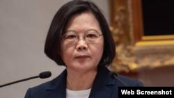 台灣總統蔡英文2019年9月16日針對台灣與所羅門群島斷交一事發表聲明。(台灣總統府網站)