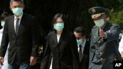 台灣總統蔡英文在金門參加中國襲擊金門島62週年紀念活動。 (2020年8月23日)