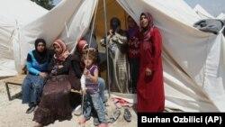 Сирийский лагерь беженцев.