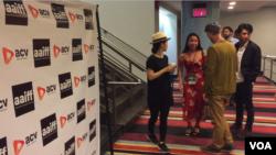 在纽约举行的第40届亚美国际电影节。(视频截图)