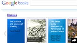 Mahkamah Agung Amerika menolak meninjau ulang tantangan ke perpustakaan buku online Google (foto: ilustrasi).