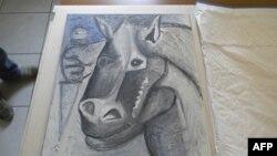 Картина Пикассо «Голова лошади»