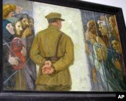 莫斯科古拉格博物館中的油畫,展示斯大林政治迫害