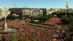 Supporters of Spain's Unity Hold Massive Rally in Barcelona