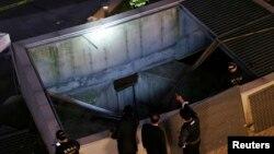 Policija vrši uviđaj na mestu nesreće u Seongnamu