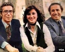 از راست: پرویز صیاد، مری آپیک و نوذر آزادی