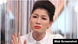 Người mẫu Trang Trần (ảnh chụp từ trang web VOV)