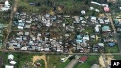16일 사이클론 '팸'이 바누아투를 강타해 포트빌라 지역 주택가가 침수되었다.