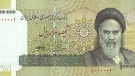 Iranian 100,000 Rial bank note (2010 file photo).