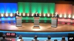 台湾明年总统选举首场电视辩论会